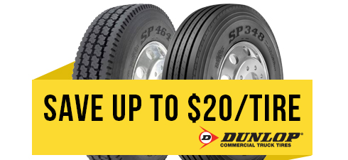 Limited time savings on Dunlop tires