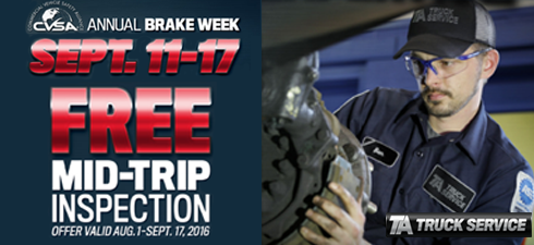 Take a Brake [Week] with a Free Mid-Trip Inspection from TA Truck Service